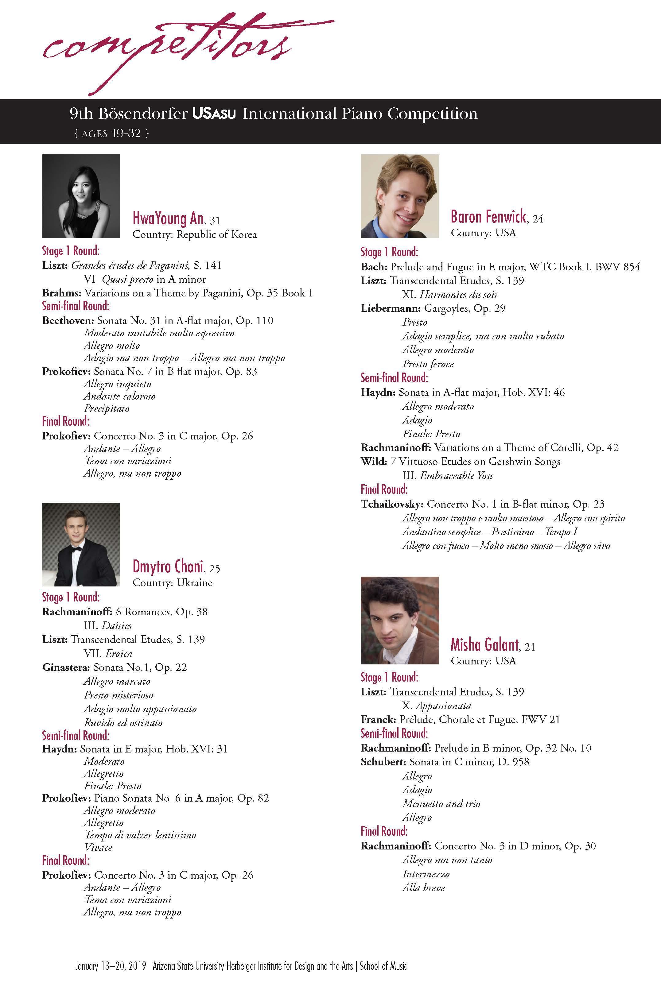 School of Music | Bösendorfer and Yamaha USASU International